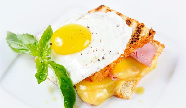 トリプトファンを含む朝食(洋食)